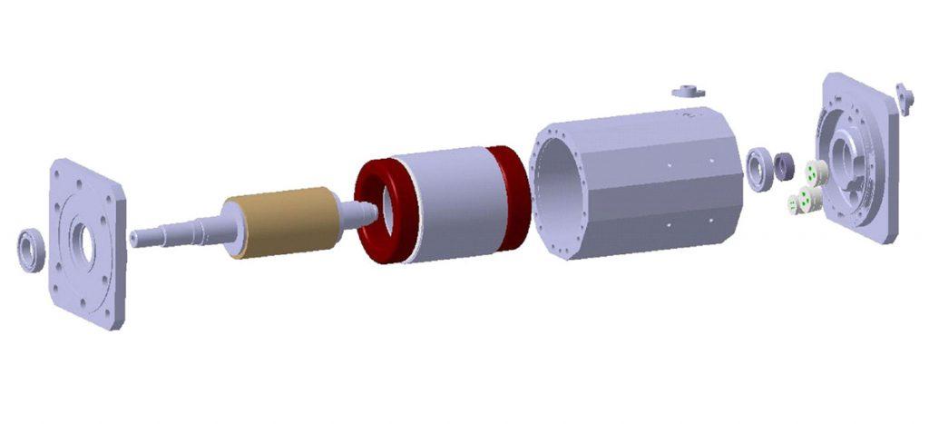 SycoTec Asynchronmotor Aufbau